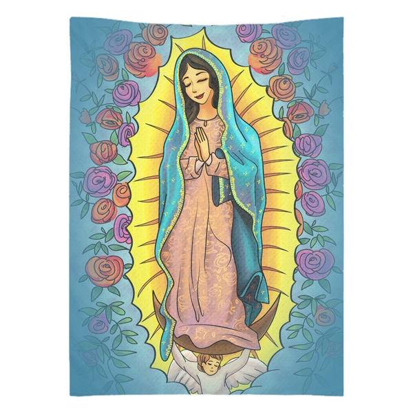 Our Lady Of Guadalupe 26x36 Inch Wall Tapestry