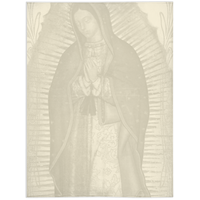 Our Lady Of Guadalupe Ivory Throw Blanket