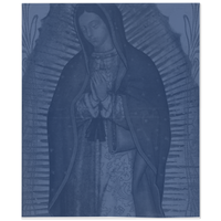Our Lady Of Guadalupe Indigo Blue Throw Blanket