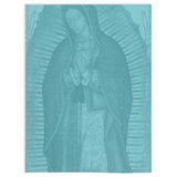 Our Lady Of Guadalupe Turquoise Throw Blanket