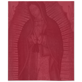 Our Lady Of Guadalupe Dark Red Throw Blanket