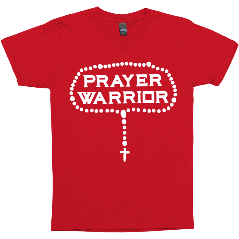 Rosary Prayer Warrior Catholic T-Shirt