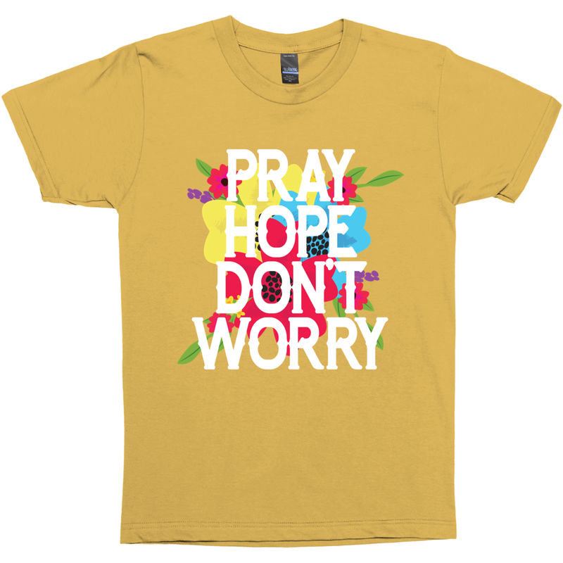 Pray Hope Don't Worry Padre Pio Premium Graphic Tee