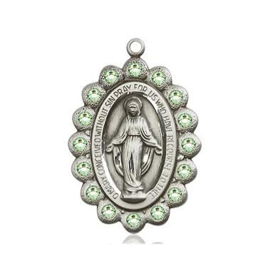 Miraculous Medal - Sterling Silver - 7/8 Inch Tall by 1/2 Inch Wide