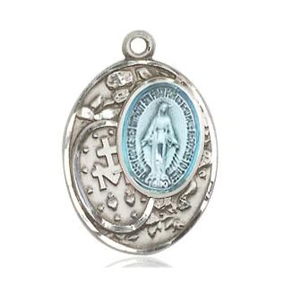 Miraculous Medal - Pewter - 3/4 Inch Tall by 1/2 Inch Wide