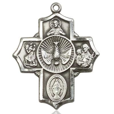 Copy of 5 Way Medal - Sterling Silver - 11/4 Inch Tall x 1 Inch Wide