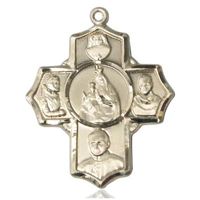 4 Way Medal - 14K Gold Filled - 1-1/8 Inch Tall x 1 Inch Wide