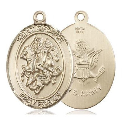 St. George Army Medal - 14K Gold Filled - 1 Inch Tall x 3/4 Inch Wide