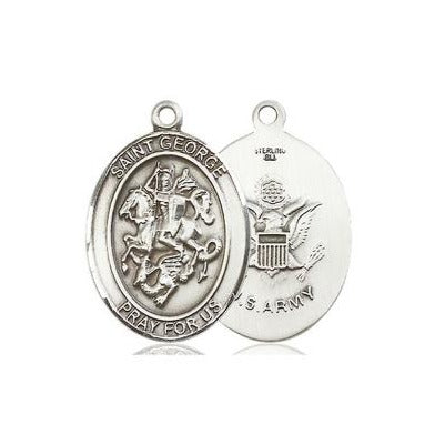 St. George Army Medal - Pewter - 3/4 Inch Tall x 1/2 Inch Wide