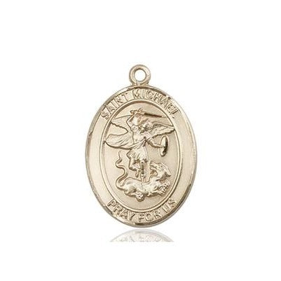 St. Michael Paratrooper Medal - 14K Gold - 3/4 Inch Tall x 1/2 Inch Wide