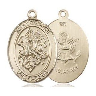 St. George Army Medal - 14K Gold Filled - 3/4 Inch Tall x 1/2 Inch Wide