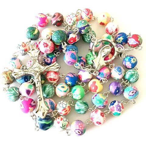 Buy 1 Get 2 Free Beautiful Catholic Colorful Rosary