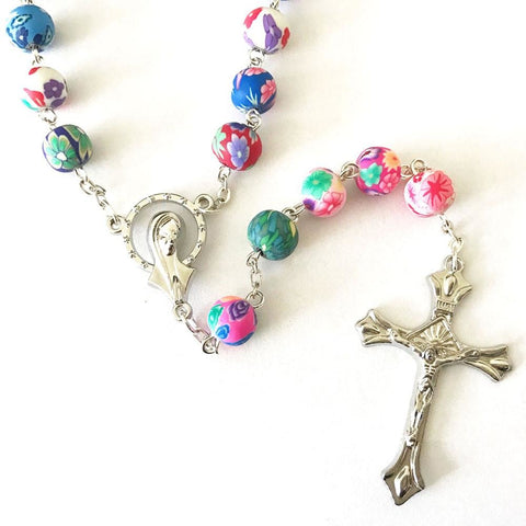 Beautiful Catholic Colorful Rosary