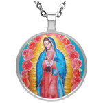 Our Lady Of Guadalupe Circle Necklace