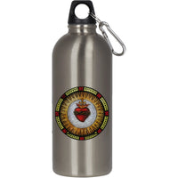 Sacred Heart Stainless Steel Silver Water Bottle