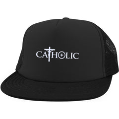 Catholic Symbols Trucker Hat with Snapback