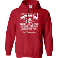St. Augustine Quote Pullover Hoodie