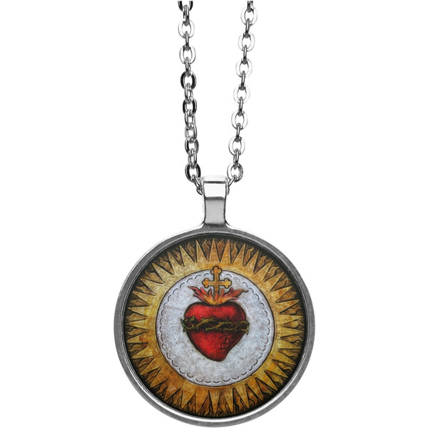 Sacred Heart Circle Necklace