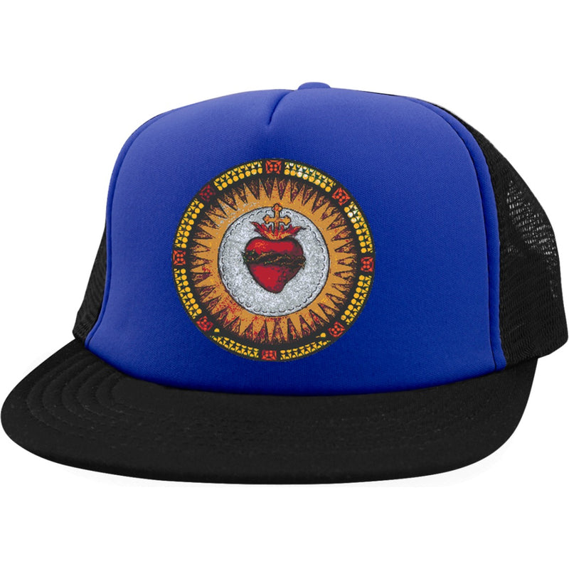 Sacred Heart Trucker Hat With Snapback