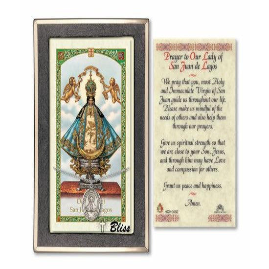 Our Lady of San Juan Catholic Medal With Prayer Card - Sterling Silver