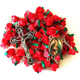Buy 1 Get 2 Free Red Rose Garden Rosary
