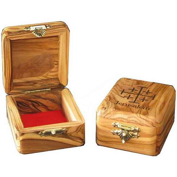 Rosary Box - Made Of Holy Land Olive Wood