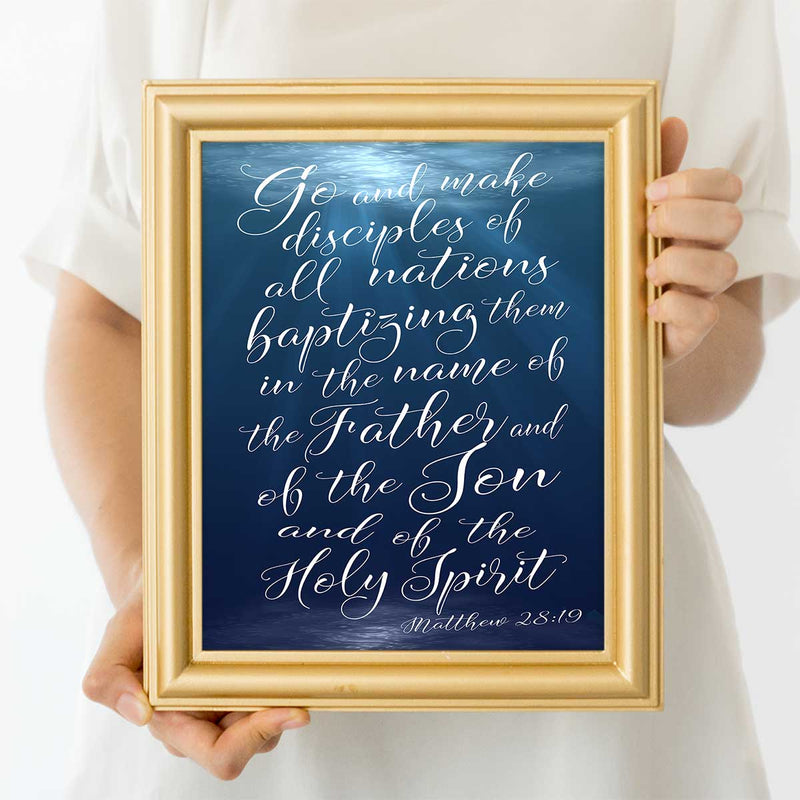 Matthew 28:19 Scripture Art Print