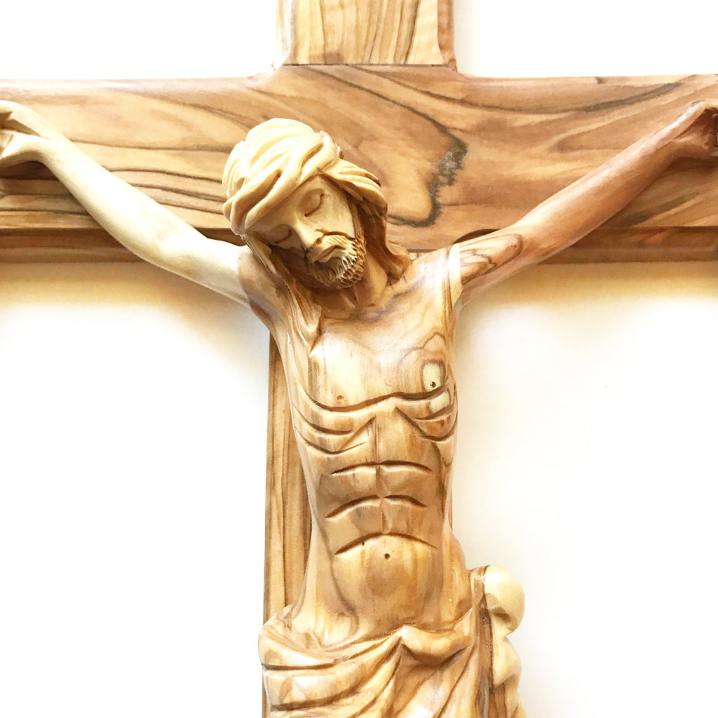 Large Beautiful Holy Land Wall Crucifix (21\