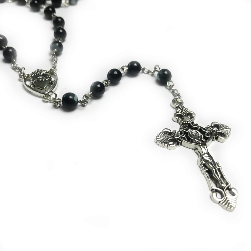 Black Sacred Heart Of Jesus Rosary