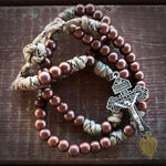Men's Rosary - Battle Bronze Paracord Rosary - Tough & Rugged Rosary by Revolution Rosaries