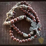 Men's Rosary - Battle Bronze Paracord Rosary - Catholic Rosary Beads by Revolution Rosaries