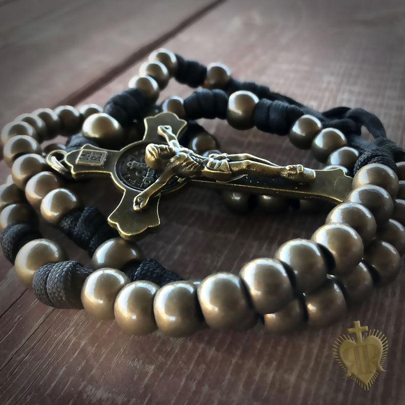 Men's Rosary - Prayer Warrior Paracord Rosary - Catholic Rosary Beads by Revolution Rosaries