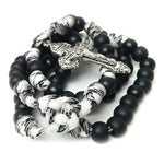 Men's Rosary - Holy Spirit Black & White Paracord Rosary - Catholic Rosary Beads by Revolution Rosaries