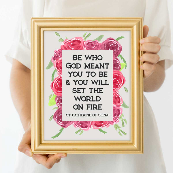 St. Catherine Of Siena Quote Art Print