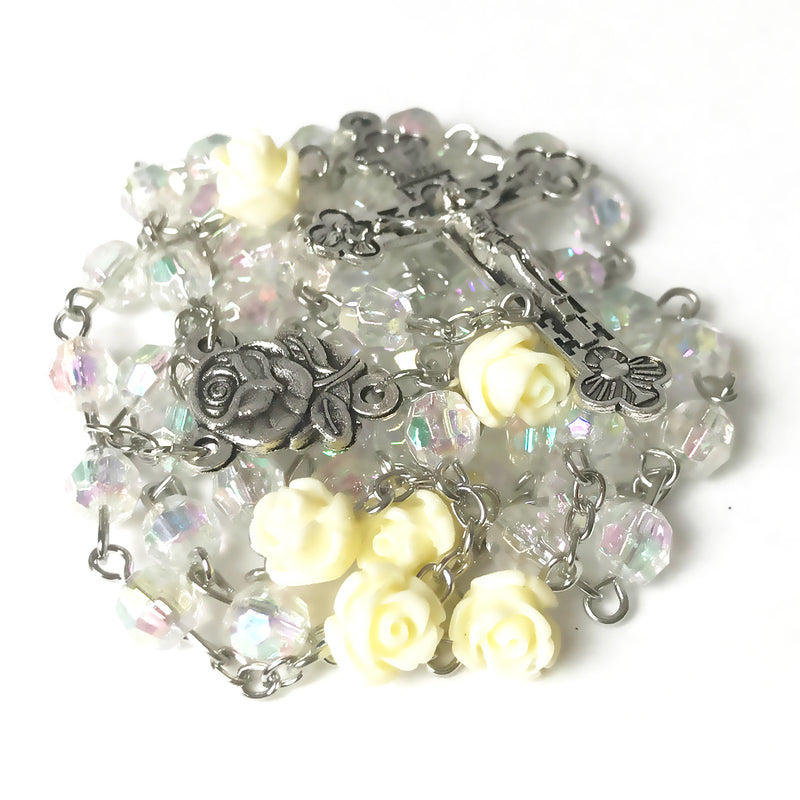 Luminous Ivory Rose Rosary