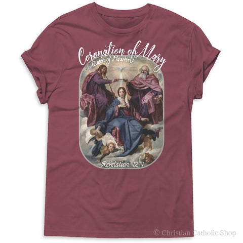 Coronation Of Mary Queen Of Heaven Premium Boutique Tee - You Will Love It!