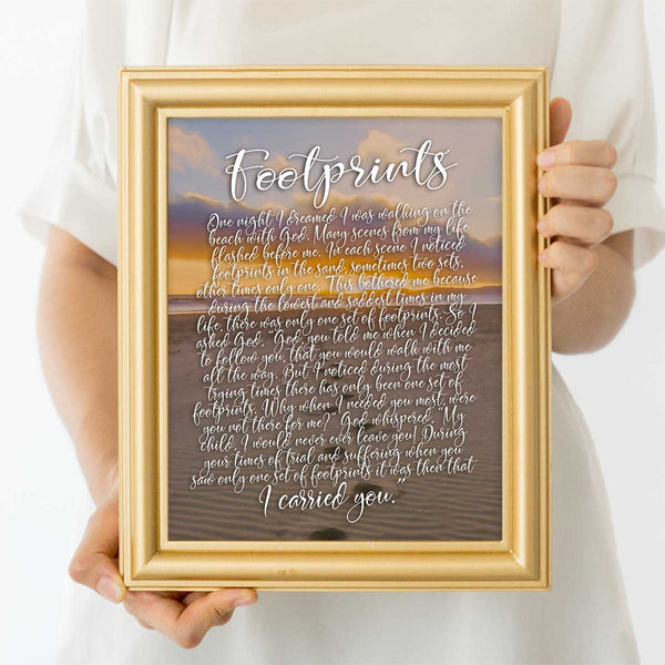 Footprints Wall Art Print