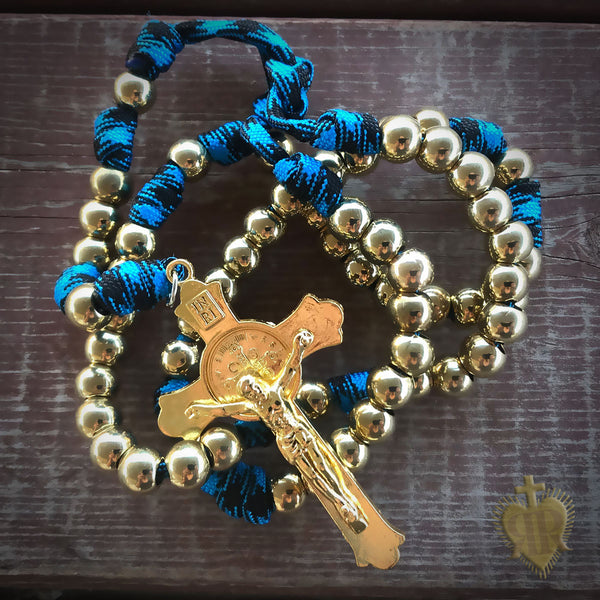 Men's Rosary - God's Army Gold Paracord Rosary - Tough & Rugged Rosary by Revolution Rosaries