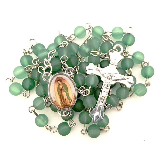 Emerald Green Our Lady Of Guadalupe Rosary