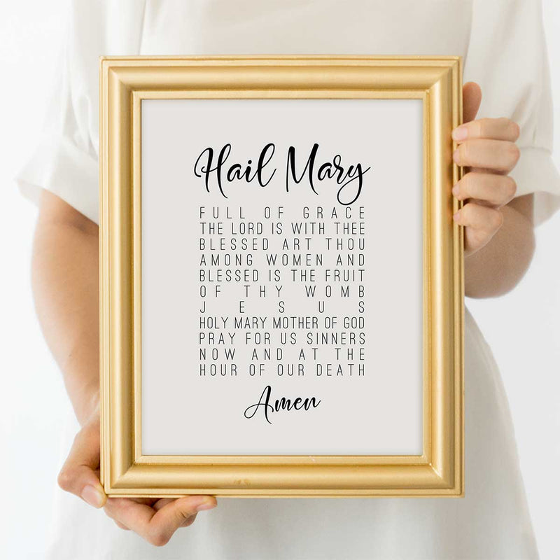 Hail Mary Prayer Wall Art Print