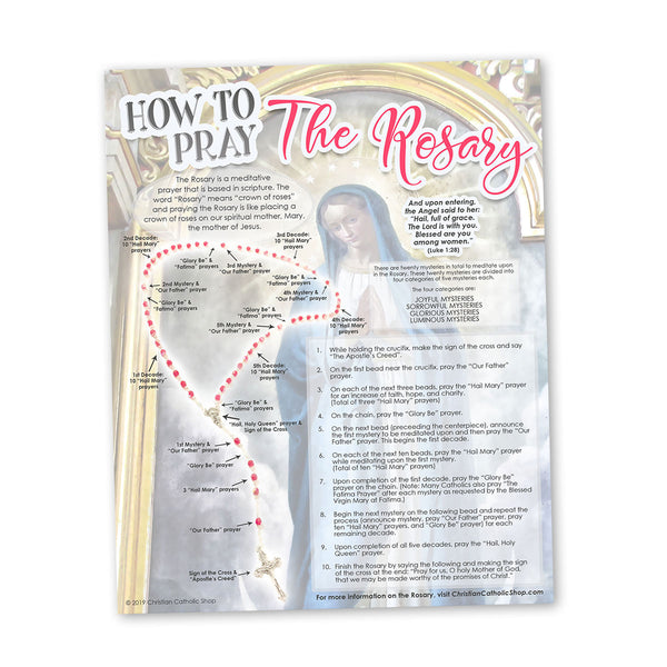 """How To Pray The Rosary"" INSTANT DOWNLOAD Digital Printable Wall Art File"