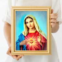 Immaculate Heart Of Mary Wall Art Print