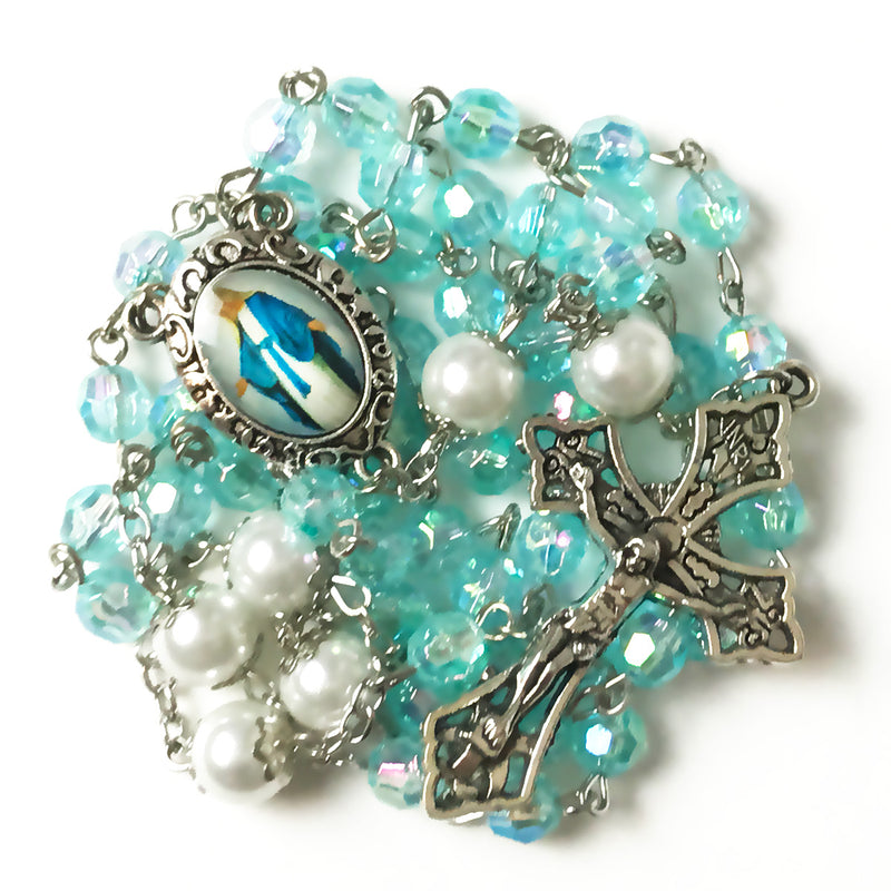 Limited Edition Our Lady Of Grace Luminous Rosary by Risen Rosaries