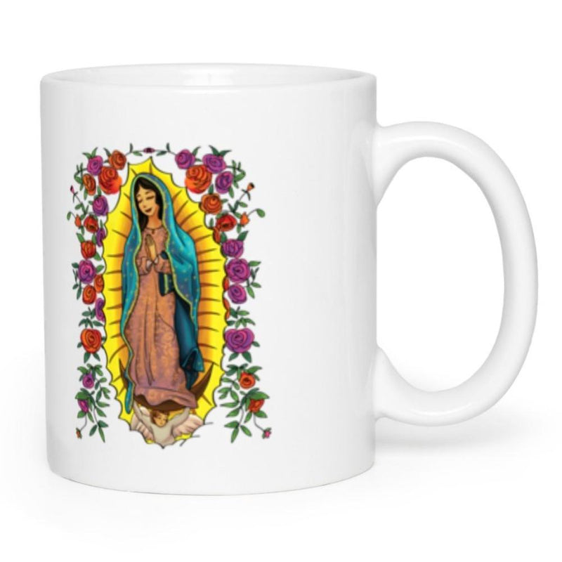 Our Lady Of Guadalupe With Roses Mug