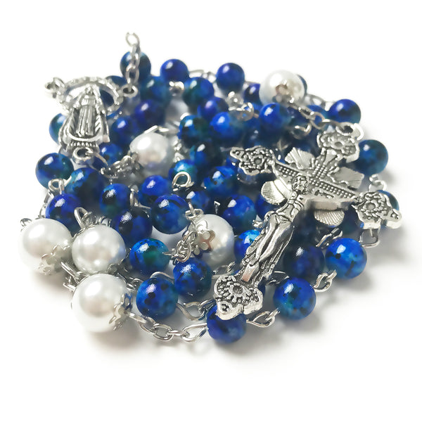Our Lady Of Grace Royal Blue Rosary