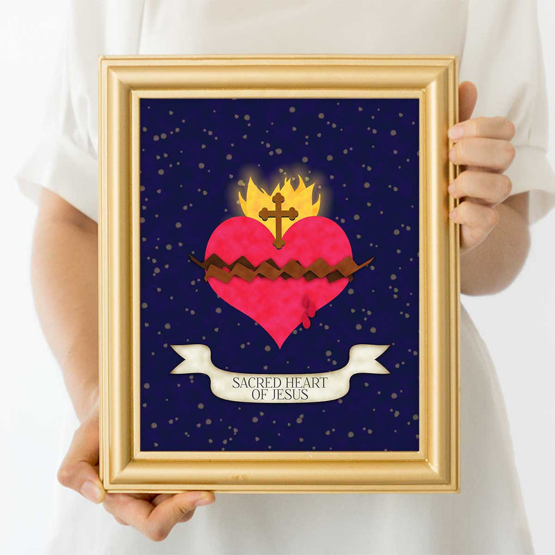 Sacred Heart Of Jesus Catholic Art Print