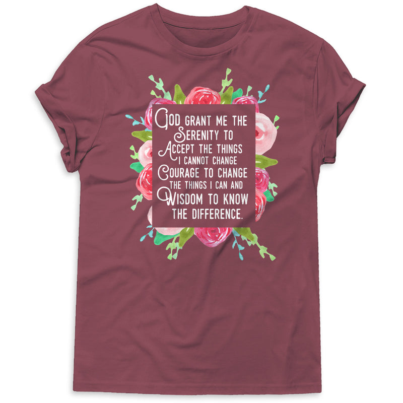 Christian Catholic T Shirt - Beautiful Serenity Prayer Premium Boutique Tee
