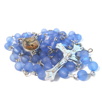 Sapphire Blue St. Michael Rosary