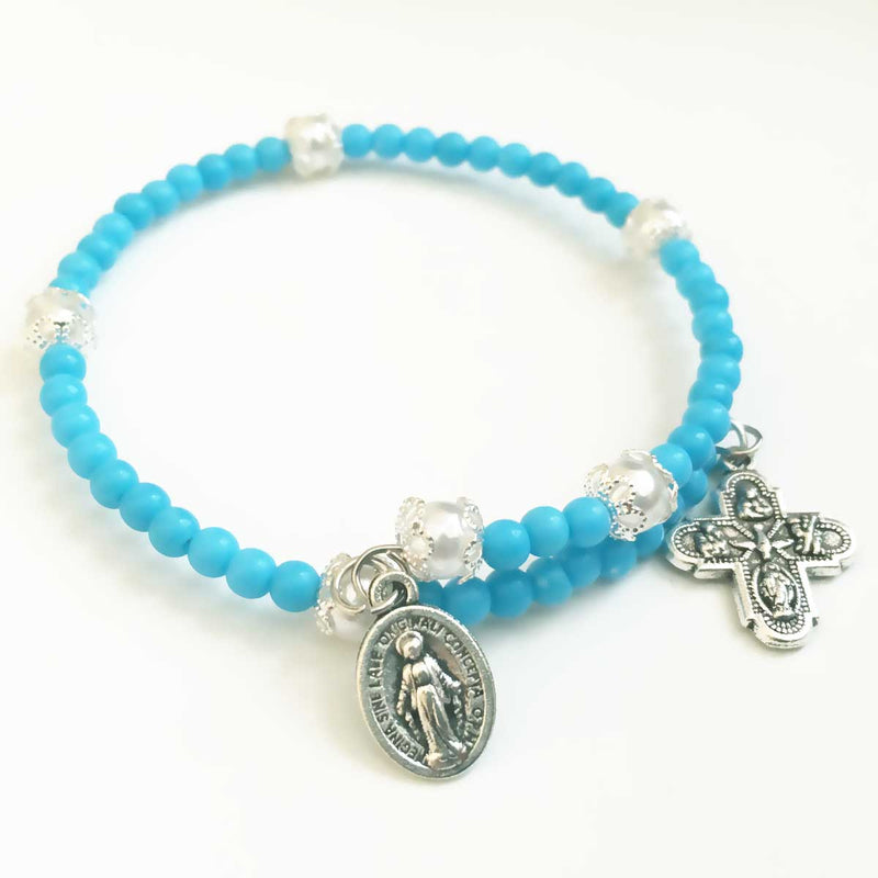 Turquoise rosary bracelet for women