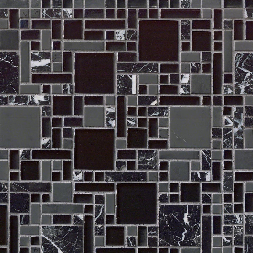 MO166 Black Marble Glass